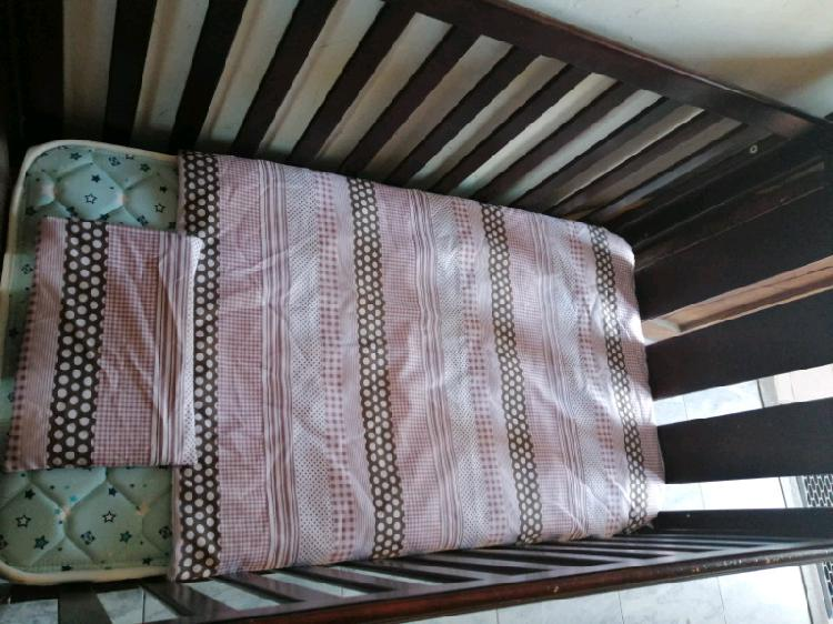 Bruin wooden cot and mattress