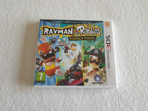 Rayman and rabbids family pack (3 games in one) - nintendo