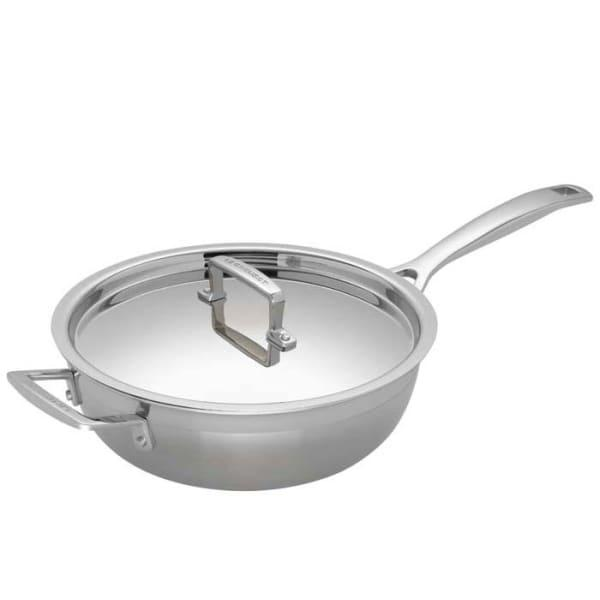 Le creuset 3 ply stainless steel chefs pan, 24cm