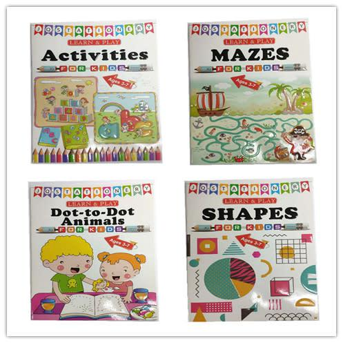 Kids learn and play activities books set of 4 books 128