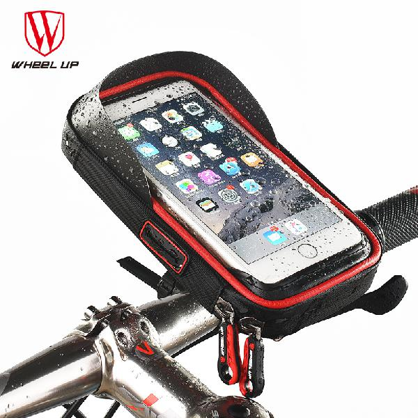 Wheel up rainproof bike handlebar touchscreen phone bag case