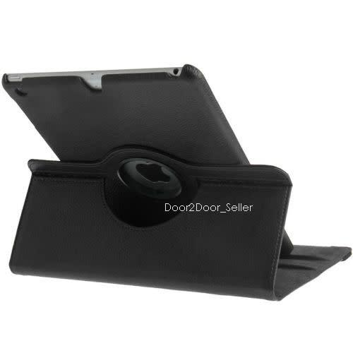 9.7 ipad 6 (2018) case swivel rotating leather cover in