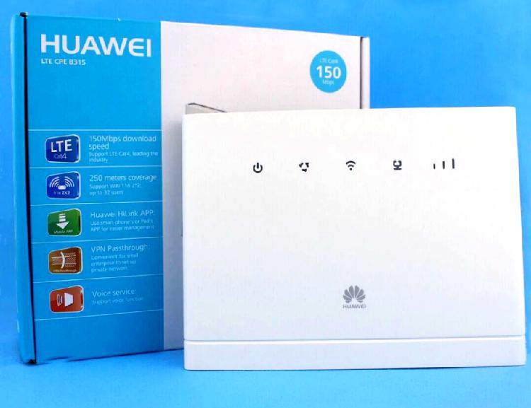 Huawei b315s 4g lte wifi modem router (uses sim card)