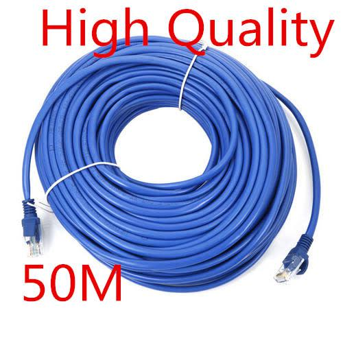 High speed cat5 ethernet cable (100 ft) lan utp blue 50m