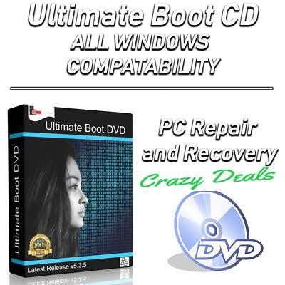 Ultimate boot cd windows 7/8/10 pc or laptops recovery