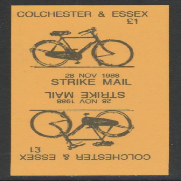 Cinderella - great britain 1988 colchester & essex a31