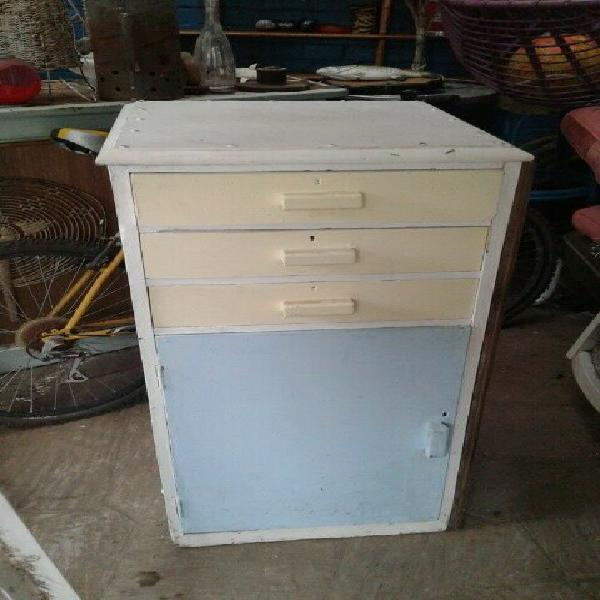 Cute vintage farm house kitchen cabinet cupboard