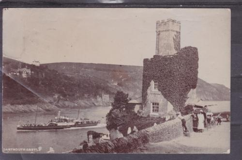 Post card ++ 1907 ++ dartmouth castle ++ fu to cape town ++