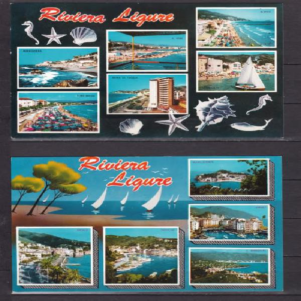 Post cards x 2 ++ riviera ligure ++ mint ++ see scan below