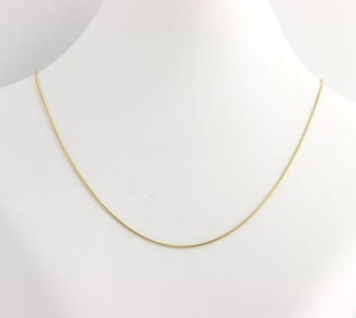 60cm 18k yellow gold plated over 925 sterling silver snake