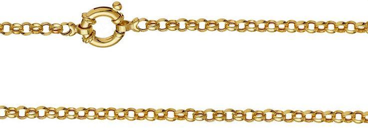 9k / 9ct gold rolo / belcher signoretti bracelet: 3.5mm