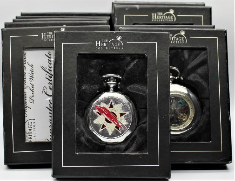 Atlas edition - 11x silver plated pocket watches - six are