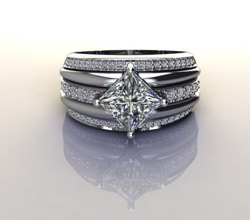 Cd designer jewelry*1.98ctw cz dress ring in 925 sterling