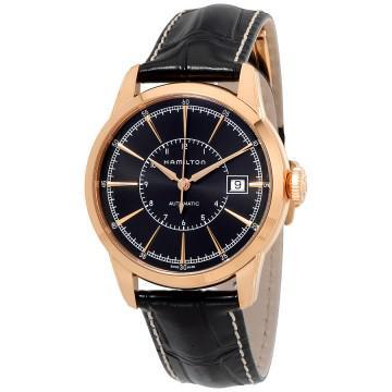 Hamilton american classic automatic black dial mens watch