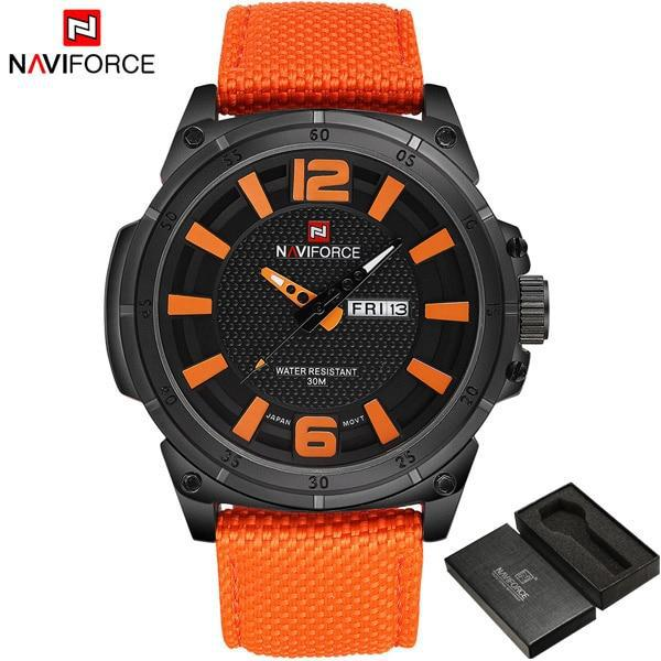 Naviforce brand luxury men fashion casual watches mens