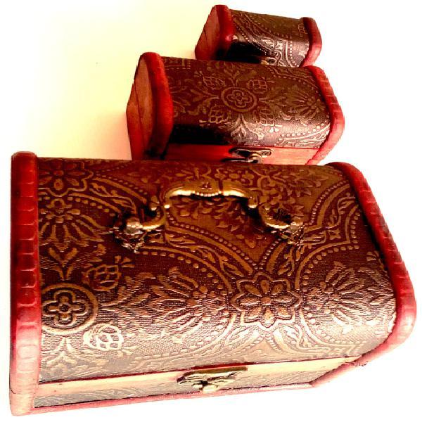 Vintage style treasure chest, wooden jewellery box, storage