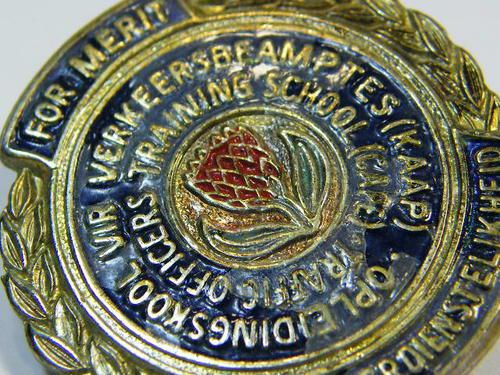 Cape traffic basic officers training school badge - as per