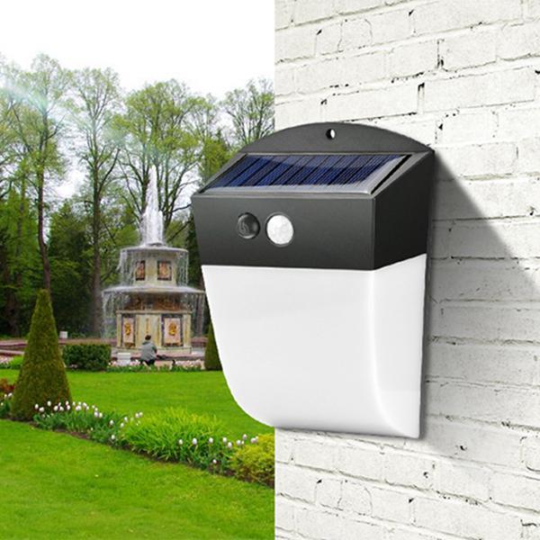 4.8w solar power 24 led pir motion sensor wall light