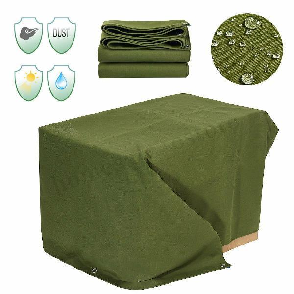 6x8ft heavy duty car cover canvas tarp tarpaulin waterproof