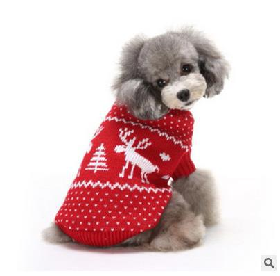 Christmas pet dog catsnow and deer winter warm sweater