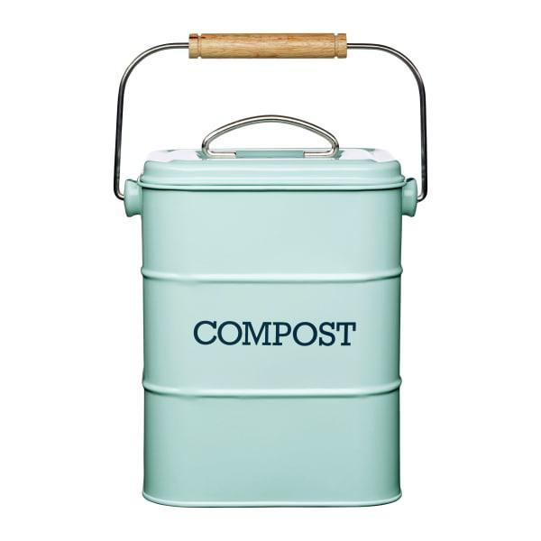 Kitchencraft living nostalgia steel compost bin, 3 litre