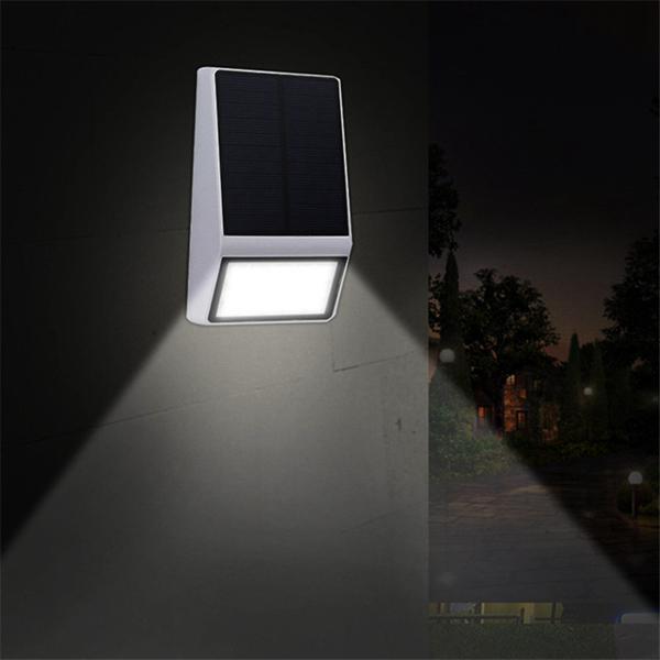 Solar powered 15 led pir motion sensor wall light outdoor