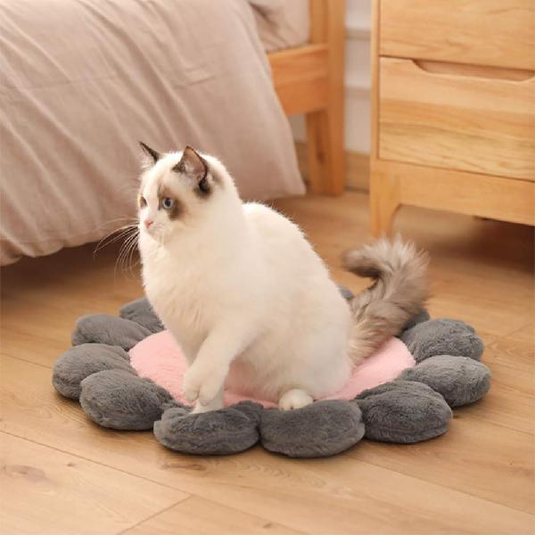 Warm pet bed cute flower shape cushion for cats dogs pet