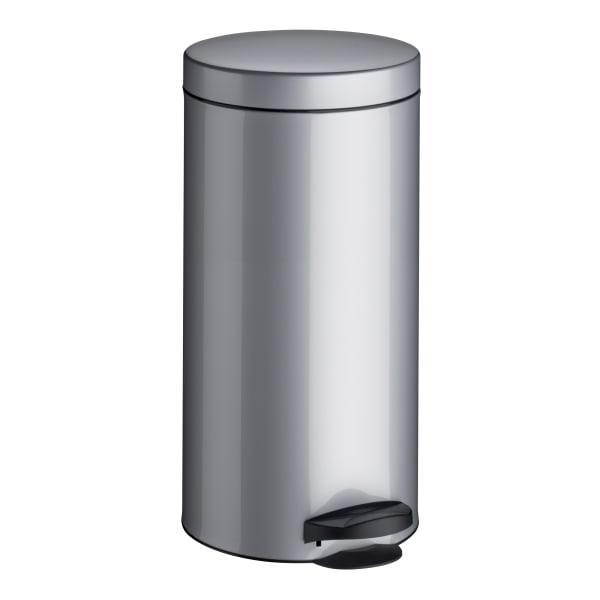 Meliconi brushed pedal bin, 30 litre