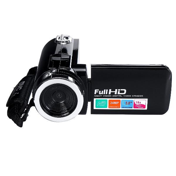4k full hd 1080p 24mp 18x zoom 3 inch lcd digital camcorder