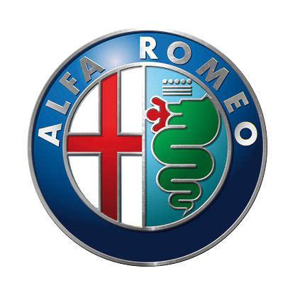 Alfa romeo logo (silver) - classic round metal sign