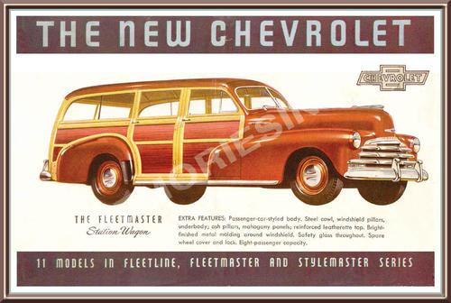 Chevrolet station wagon (47) - classic metal sign
