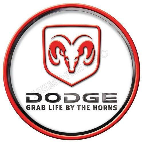Dodge - grab life by the horns - classic round metal sign