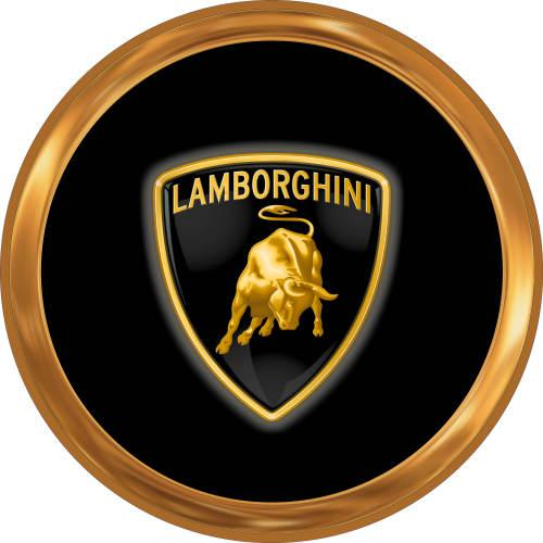 Lamborghini - logo only - classic round metal sign