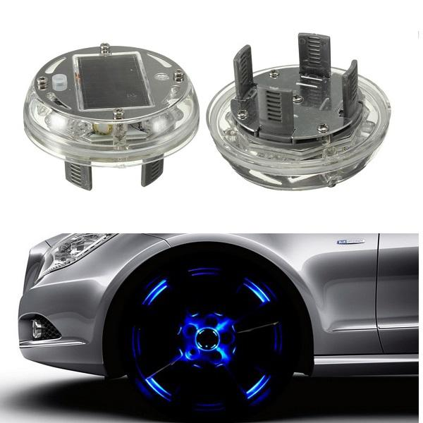Solar energy led car wheel tire rim flash light decoration