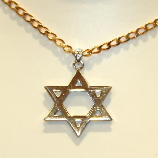 9k / 9ct gold magen david / star of david, 25mm wide, yellow