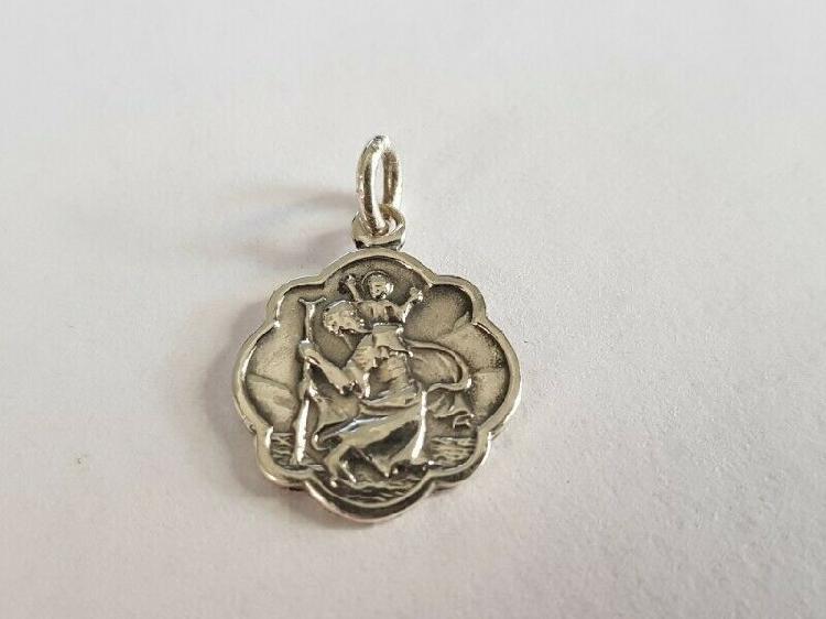 Ba313.925 silver st. christopher pendant