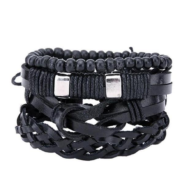Bracelets & bangles mens leather bracelets 2018 pulseira