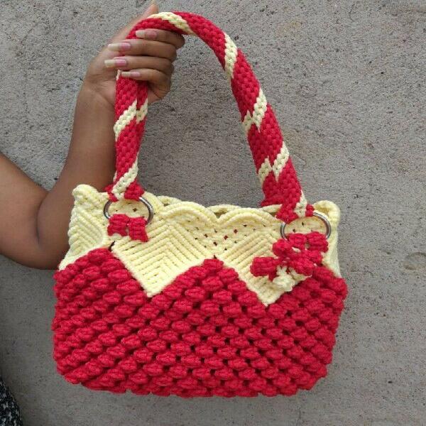 Macrame hand bags