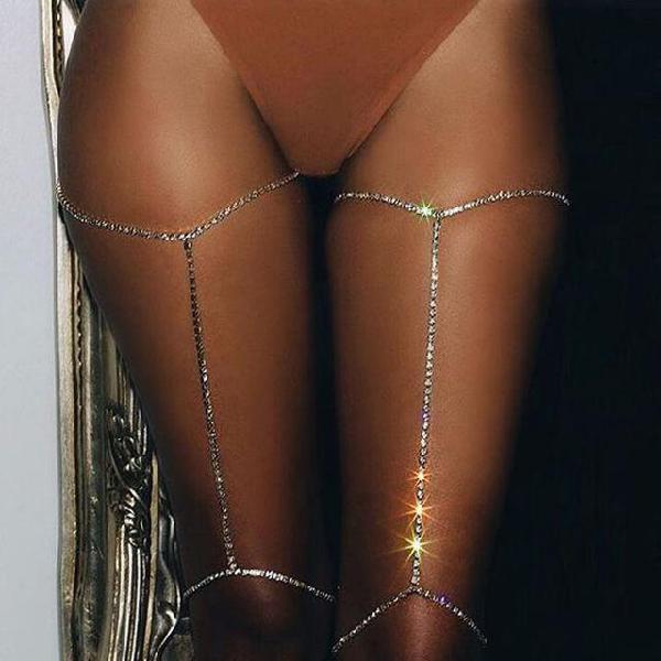 New fashion jewelry full crystal stone leg body chain gift