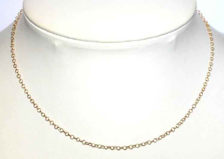 Rolo / belcher chain: 19.2k / 19.2ct portuguese gold, 40cm.