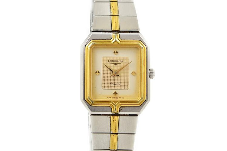 Vintage longines flagship stainless steel two tone ladies
