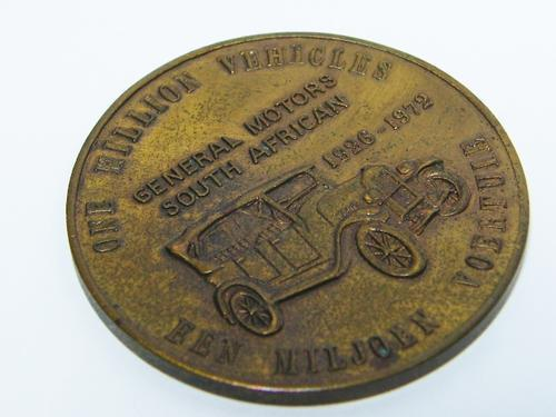 1972 general motors - one million vechiles medallion - as