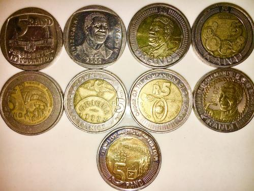 Complete set of commemorative r5 coins 1994 to 2019 high