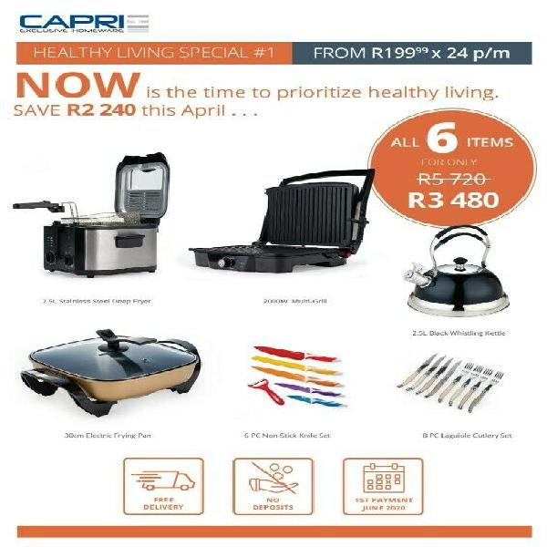 Capri cookware and homeware
