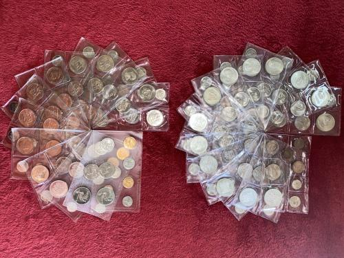 Mint state complete (26 sets) collection of rsa 2nd desimal