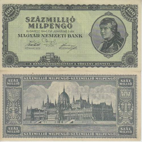 Post world war ii inflationary era - hungary 100 million