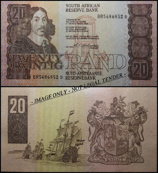 S. a. bank note: twenty rand / twintig rand: (aunc): cl