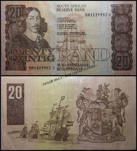 S. a. bank note: twenty rand / twintig rand: (circulated