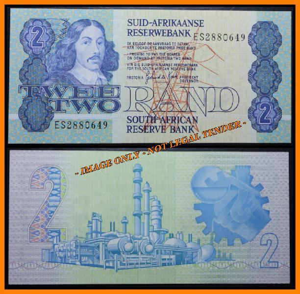 S. a. bank note:twee rand - two rand - gpc de kock, (unc)