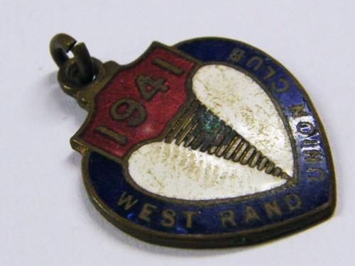 West rand union club 1941 turf club medallion - no.91